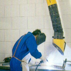 Brazo aspirador industrial telescópico