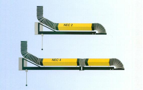 Prolongadores aspiración industrial NEC 2 y 4